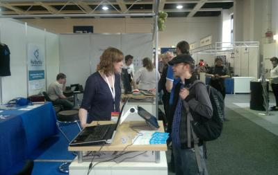 The Busy KDE Booth at LinuxTag